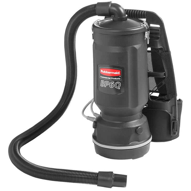 Rubbermaid FG9VBP060000 6-qt Backpack Vacuum - Black