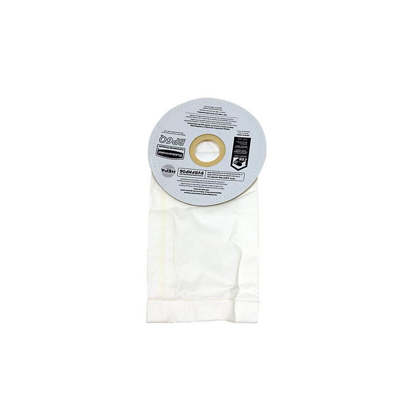 Rubbermaid FG9VBPHP06 6-qt HEPA Replacement Paper Bag (9VBP06)