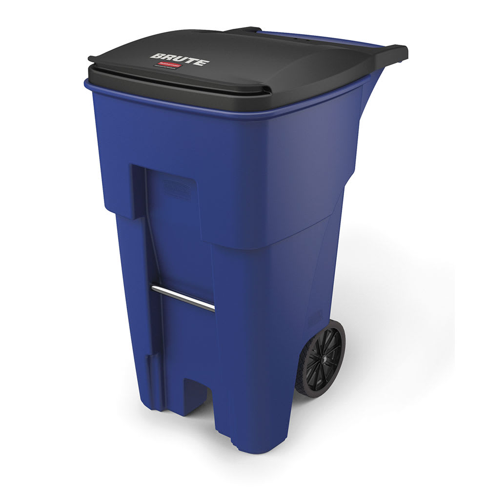Rubbermaid Fg9w2173blue 65 Gal Utility Wheeled Trash Can