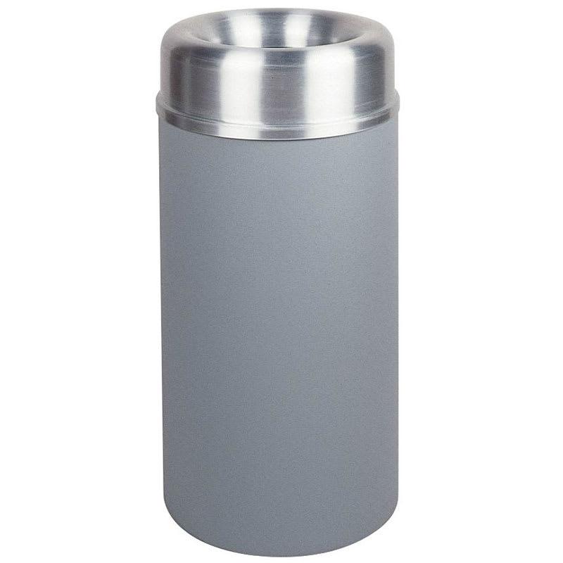 Rubbermaid FGAOT15SAGRPL 15-gal Indoor Decorative Trash Can - Metal, Gray/Aluminum