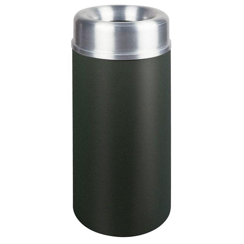 Rubbermaid FGAOT15SABKPL 15-gal Indoor Decorative Trash Can - Metal, Black/Aluminum