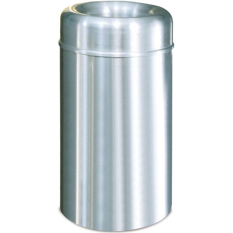 Rubbermaid FGAOT30SAPL 30-gal Indoor Decorative Trash Can - Metal, Satin Aluminum