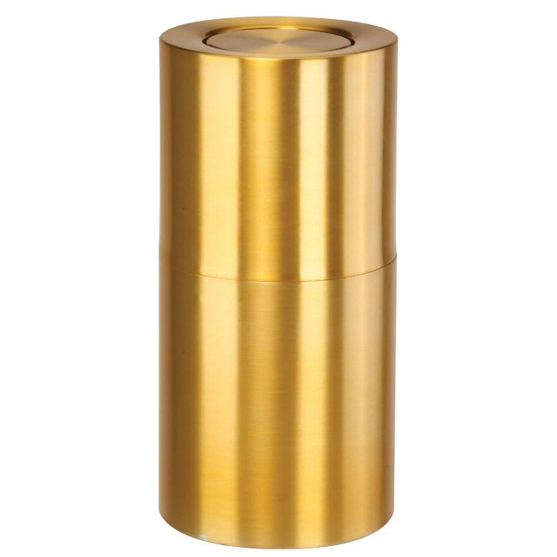 Rubbermaid FGATF18SBPL 15-gal Indoor Decorative Trash Can - Metal, Satin Brass