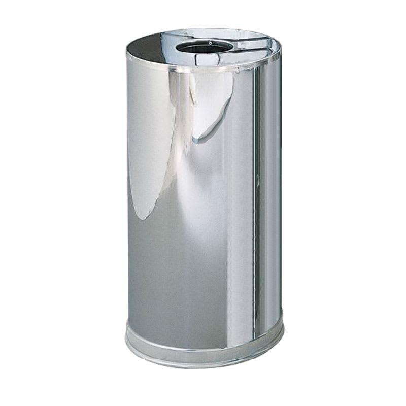 Rubbermaid FGCC16MCGL 15 gal Indoor Decorative Trash Can - Metal, Mirror Chrome