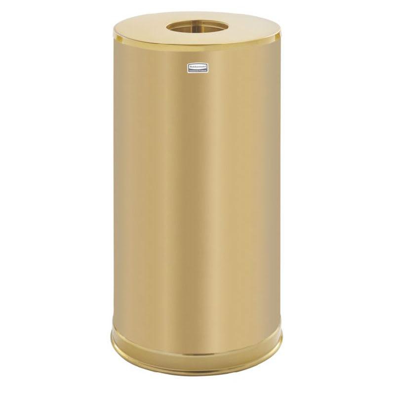 decorative indoor trash cans. Rubbermaid FGCC16SBSGL 15 gal Indoor Decorative Trash Can  Metal Satin Brass
