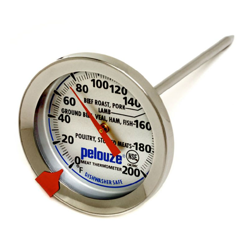 Rubbermaid FGCM200C Pelouze Meat Thermometer - Dial Type with Stem, 120 - 200 F