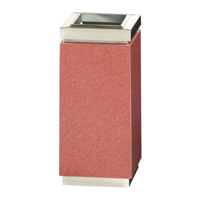 Rubbermaid FGDM12TSRG 5-gal Trash Receptacle - Galvanized Liner, Red Sierra Granite/Stainless