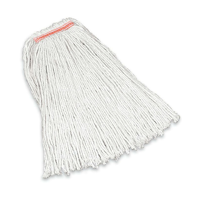 "Rubbermaid FGF11600WH00 16 oz Premium Mop Head - 1"" Headband, 4 Ply Cotton, White"