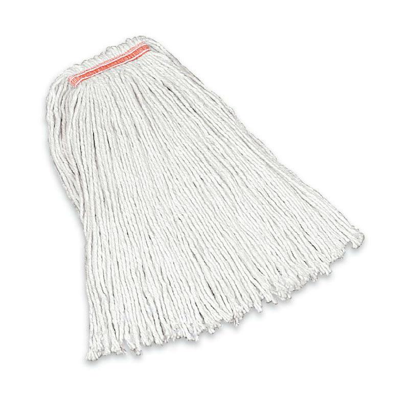 "Rubbermaid FGF11700WH00 20-oz Premium Mop Head - 1"" Headband, 4-Ply Cotton, White"