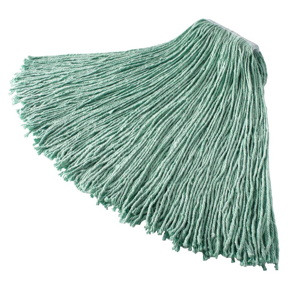 "Rubbermaid FGF13200GR00 24 oz Mop Head - 1"" Headband, Synthetic Yarn, Green"