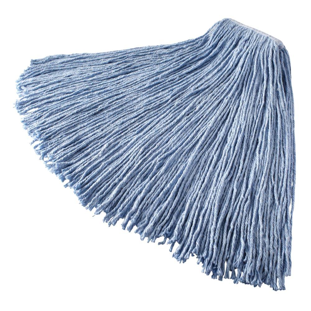 "Rubbermaid FGF13200BL00 24-oz Mop Head - 1"" Headband, Synthetic Yarn, Blue"