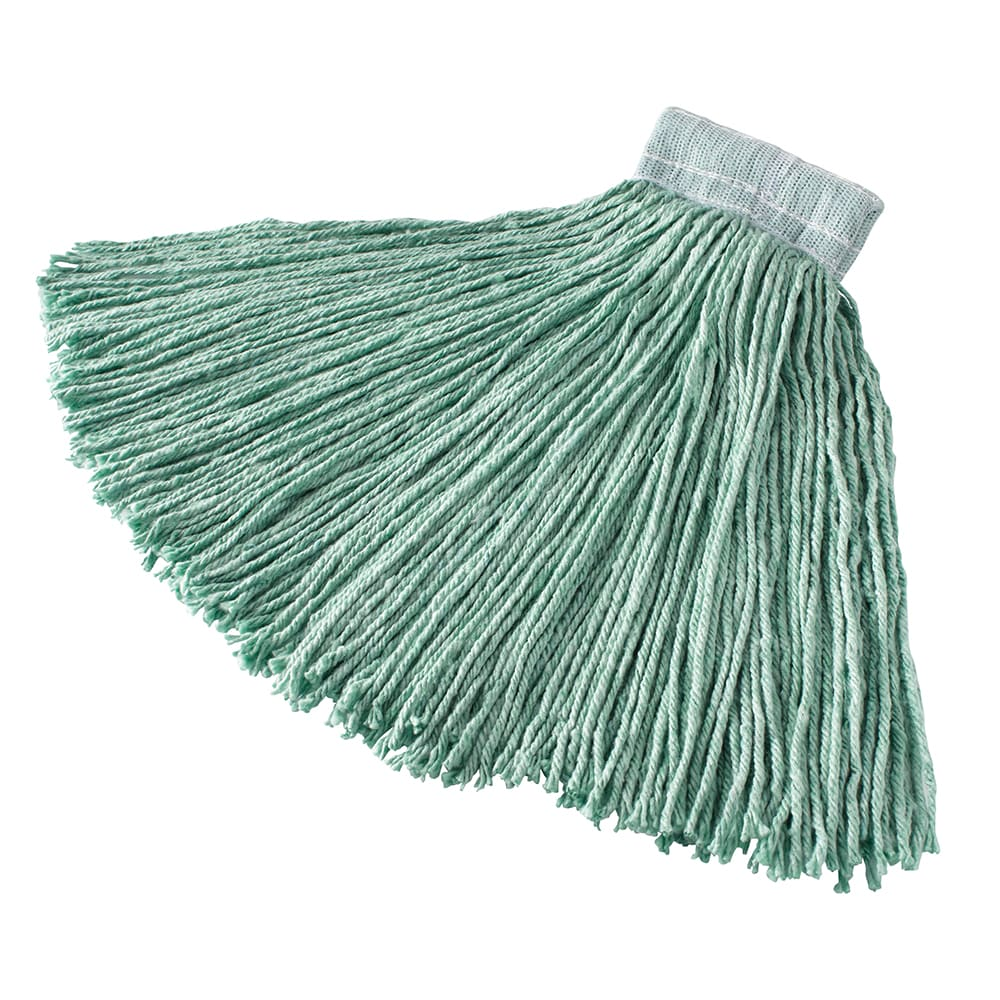 "Rubbermaid FGF13600GR00 16 oz Mop Head - 5"" Headband, Synthetic Yarn, Green"
