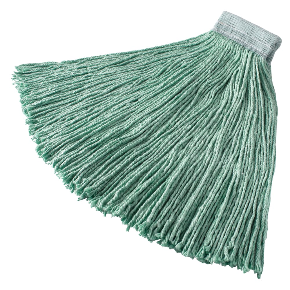 "Rubbermaid FGF13700GR00 24 oz Mop Head - 5"" Headband, Synthetic Yarn, Green"