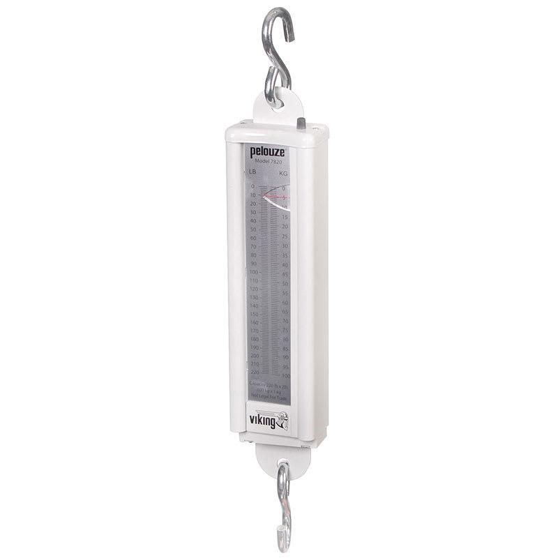 Rubbermaid FG007820000000 Pelouze Mechanical Vertical Hanging Scale - 220-lb x 2-lb/100kg x 1-kg