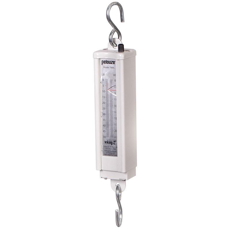 Rubbermaid FG007895000000 Pelouze Mechanical Hanging Vertical Scale - 50-lb x 1-lb/22.5-kg x 0.5-kg