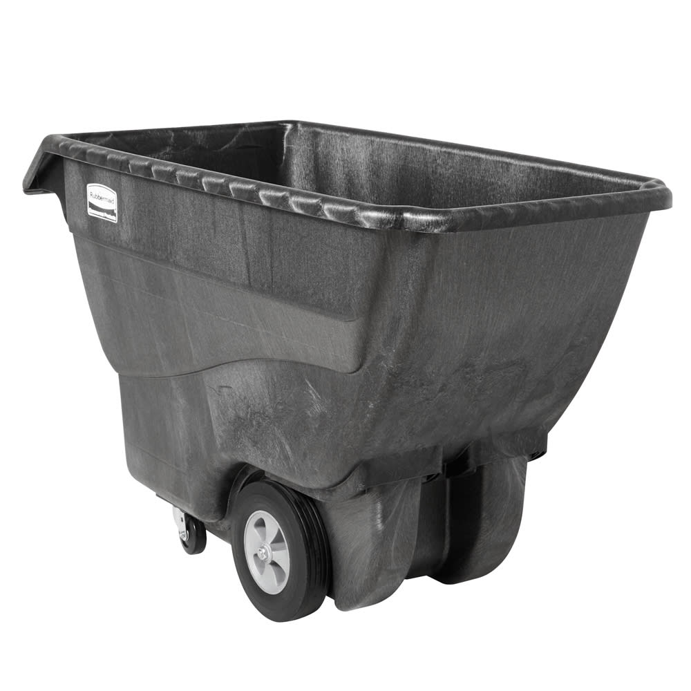 Rubbermaid FG101300 BLA .75 cu yd Trash Cart w/ 800 lb Capacity, Black