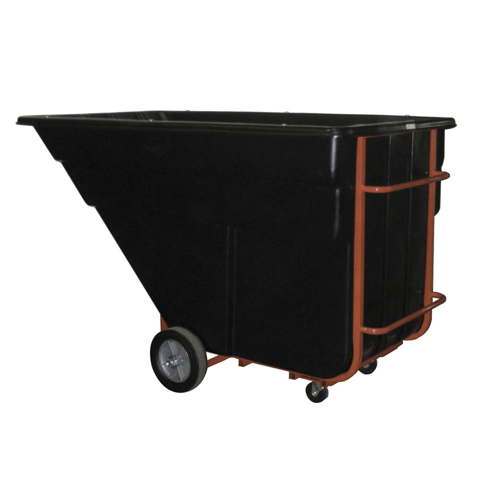 Rubbermaid FG102542 BLA 1.5-cu yd Trash Cart w/ 1200-lb Capacity, Black