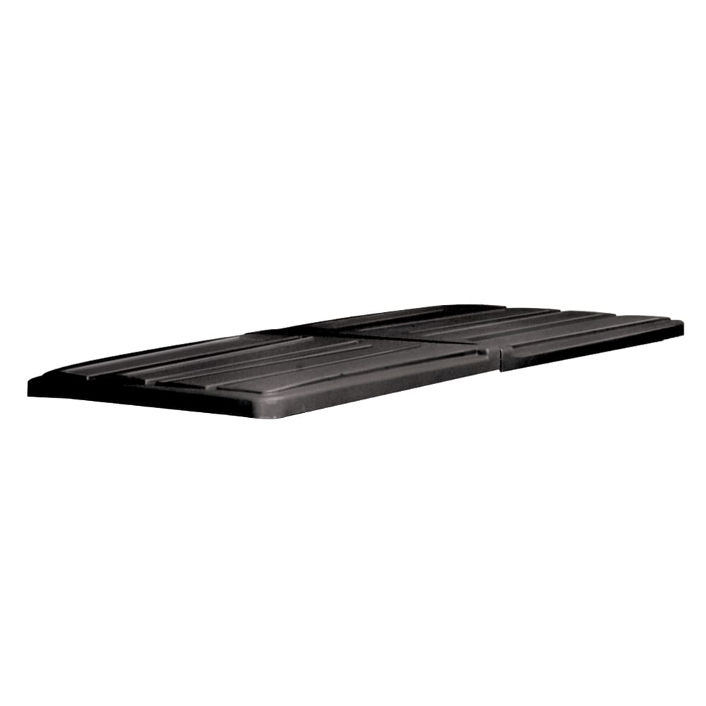 Rubbermaid FG102700 BLA Rectangle Flat Tilt Truck Lid - Plastic, Black