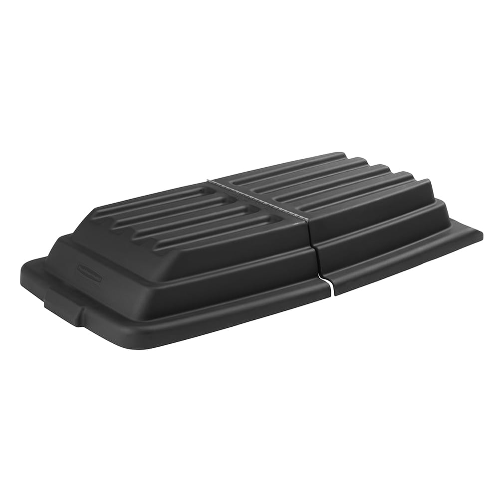 Rubbermaid FG102800BLA Rectangle Dome Tilt Truck Lid - Plastic, Black