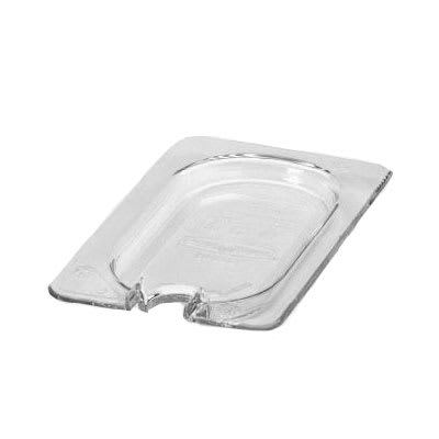 Rubbermaid FG102P86CLR Cold Food Pan Cover - 1/9 Size, Notched, Clear