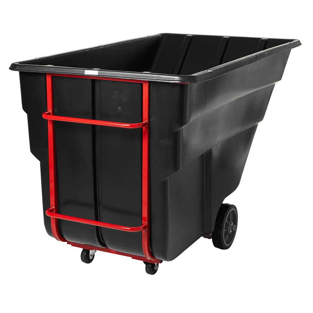 Rubbermaid FG103500BLA 2 cu yd Trash Cart w/ 1900 lb Capacity, Black