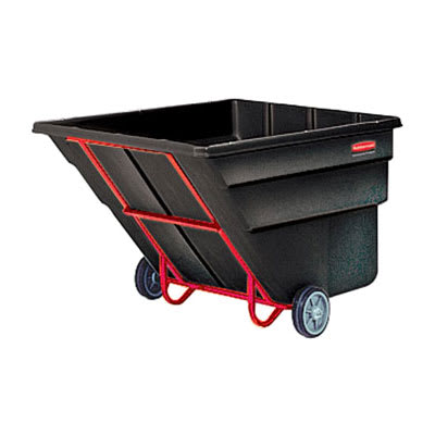 Rubbermaid FG104500 BLA 2.5 cu yd Trash Cart w/ 1800 lb Capacity, Black