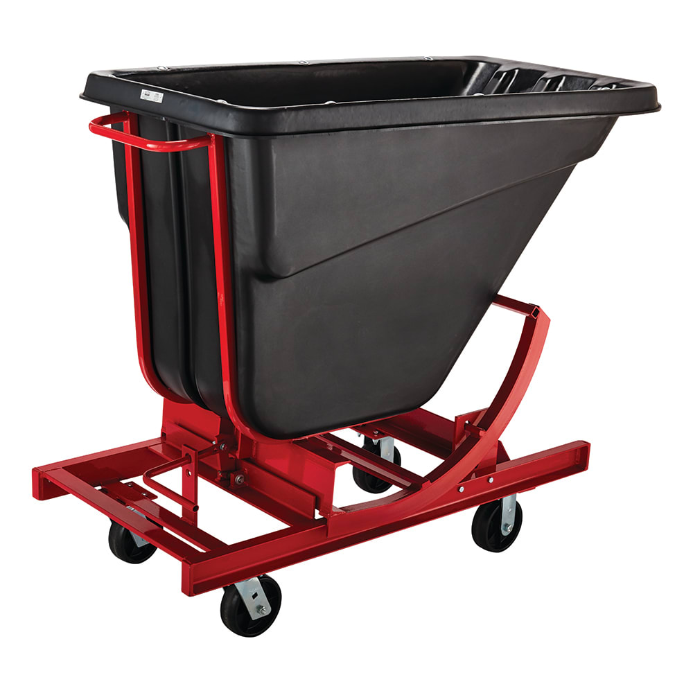 Rubbermaid FG105443 BLA .5 cu yd Trash Cart w/ 750 lb Capacity, Black