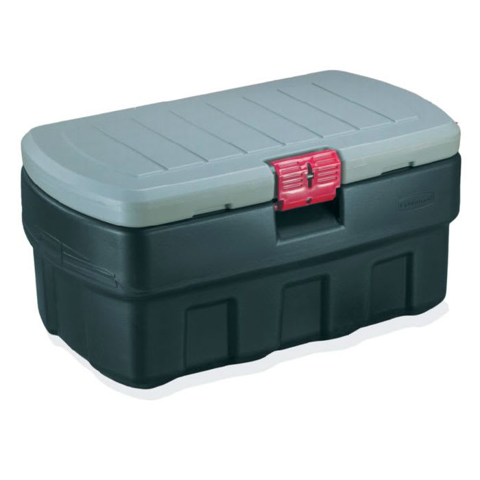 Rubbermaid FG11910138 35-gal ActionPacker Cargo Box - Lock, Black