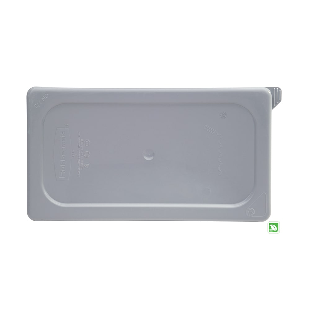 Rubbermaid FG122P29GRAY Cold Food Pan Cover - 1/3-Size, Secure Sealing, Gray