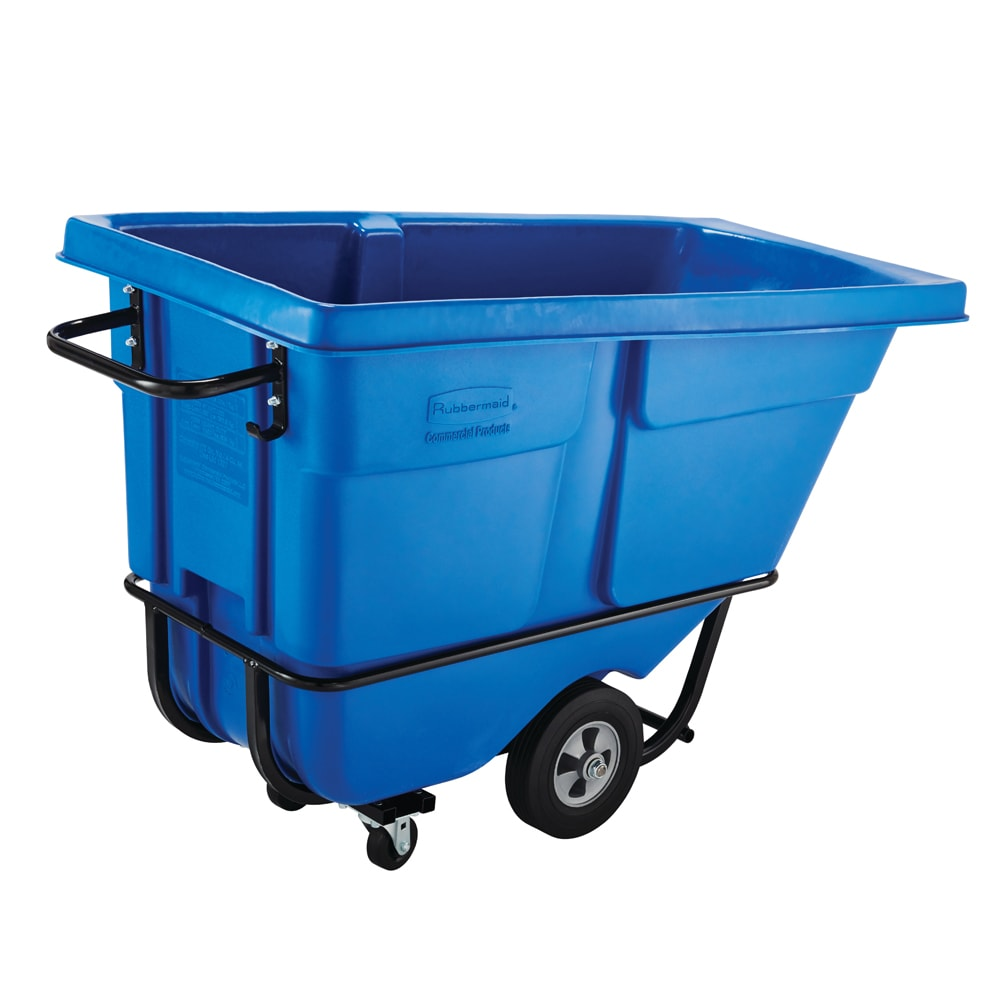 Rubbermaid FG130500DBLUE .5-cu yd Trash Cart w/ 850-lb Capacity, Blue