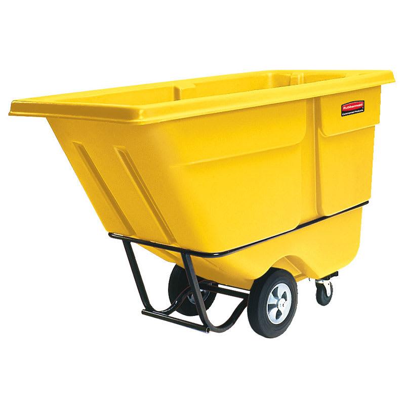 Rubbermaid FG130500YEL .5-cu yd Trash Cart w/ 850-lb Capacity, Yellow
