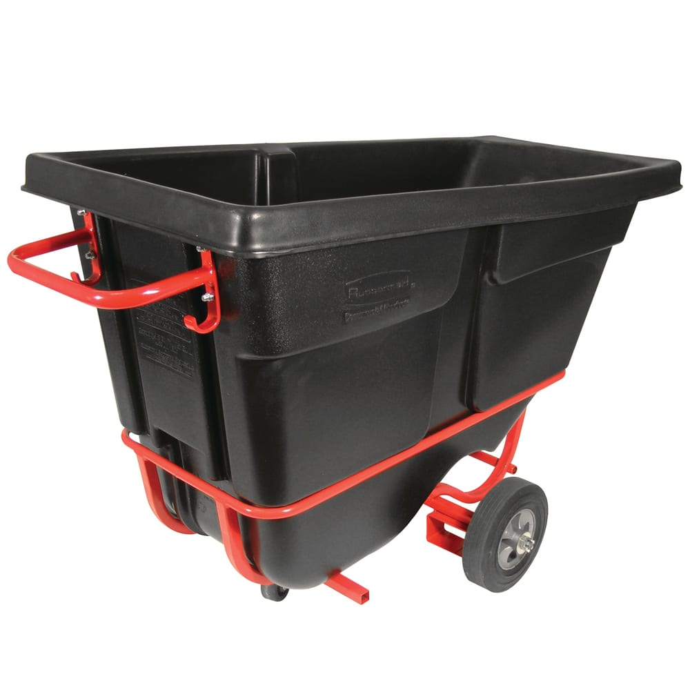 Rubbermaid FG130542BLA .5 cu yd Trash Cart w/ 850 lb Capacity, Black