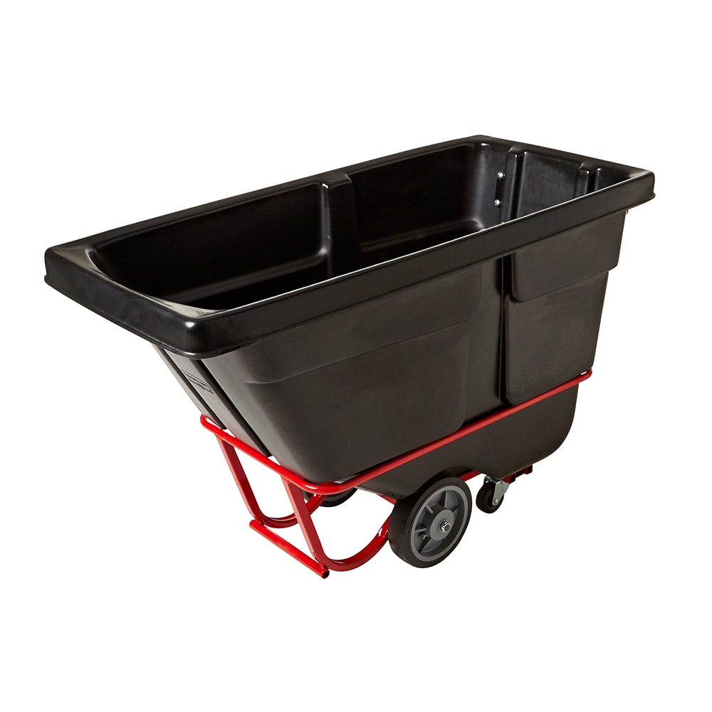Rubbermaid FG130600BLA .5-cu yd Trash Cart w/ 1400-lb Capacity, Black