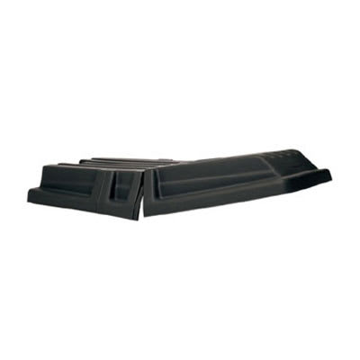 Rubbermaid FG130700BLA Rectangle Dome Tilt Truck Lid - Plastic, Black