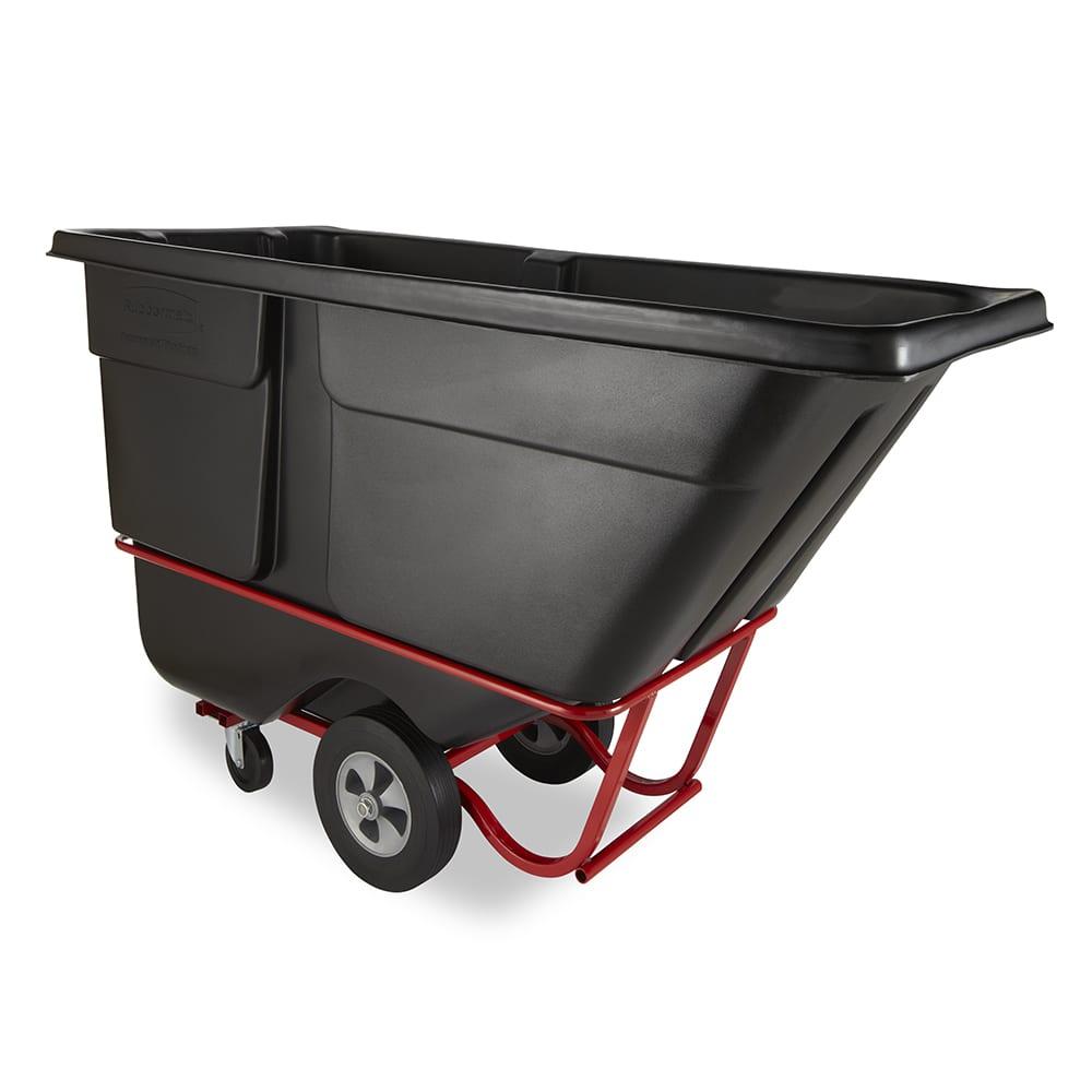 Rubbermaid FG131500BLA 1 cu yd Trash Cart w/ 1250 lb Capacity, Black