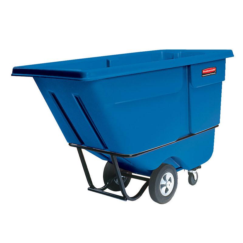 Rubbermaid FG131500DBLUE 1-cu yd Trash Cart w/ 1250-lb Capacity, Blue