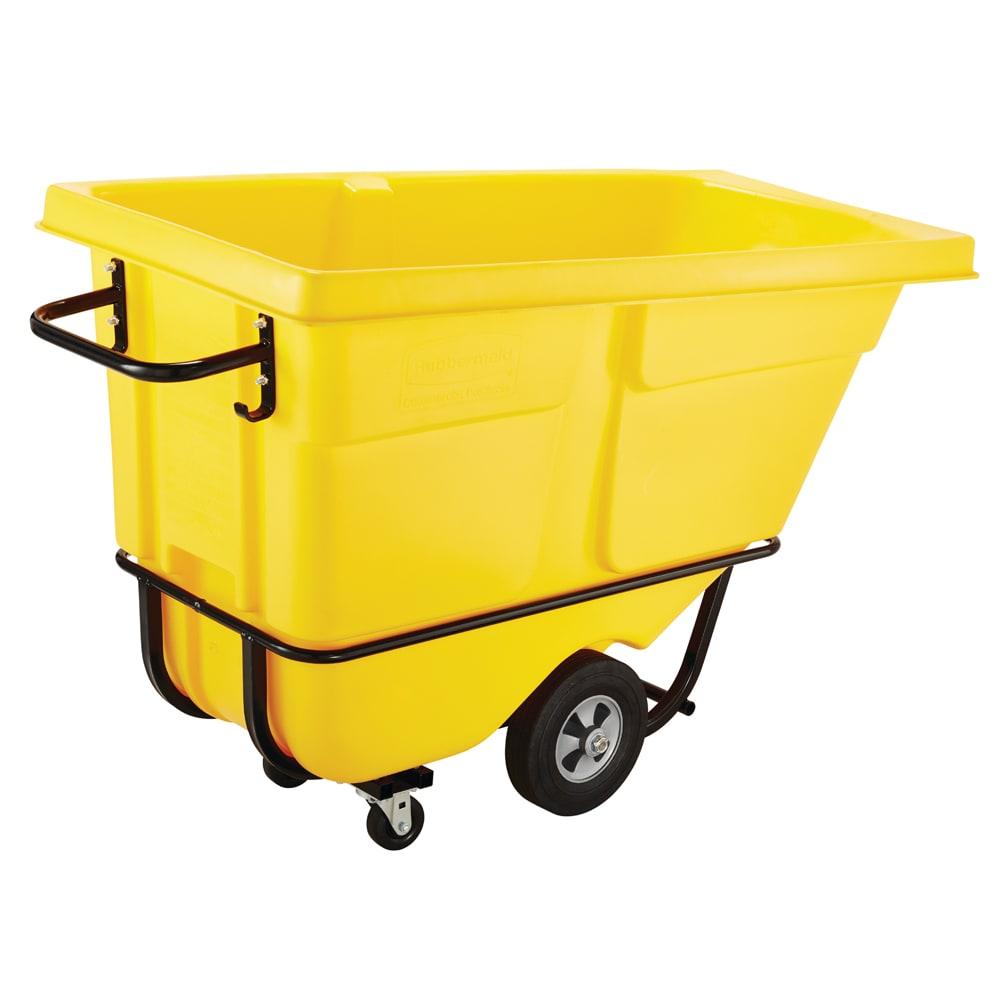 Rubbermaid FG131500YEL 1 cu yd Trash Cart w/ 1250 lb Capacity, Yellow
