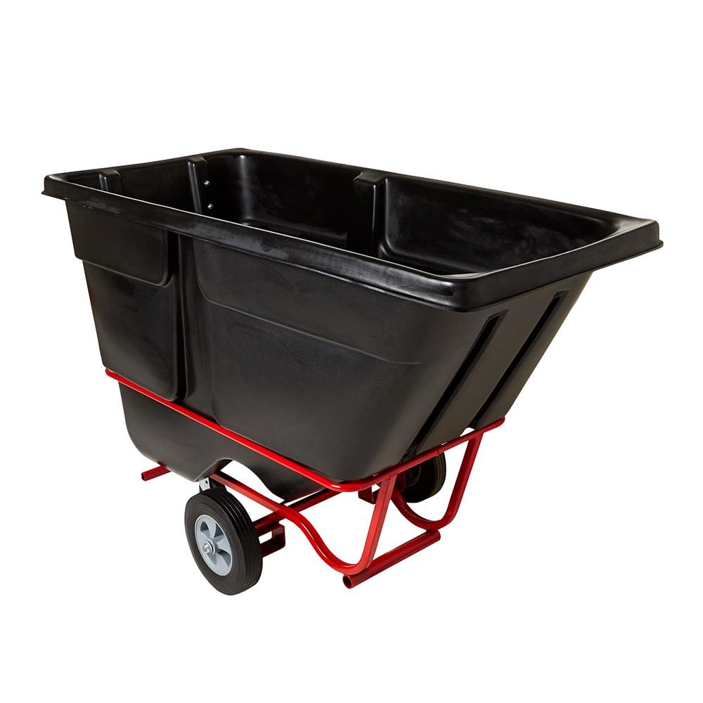 Rubbermaid FG131542BLA 1-cu yd Trash Cart w/ 1250-lb Capacity, Black