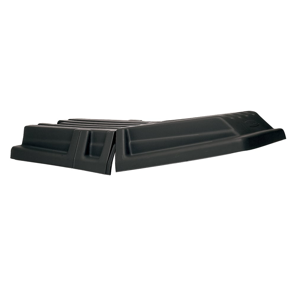 Rubbermaid FG131700BLA Rectangle Dome Tilt Truck Lid - Plastic, Black