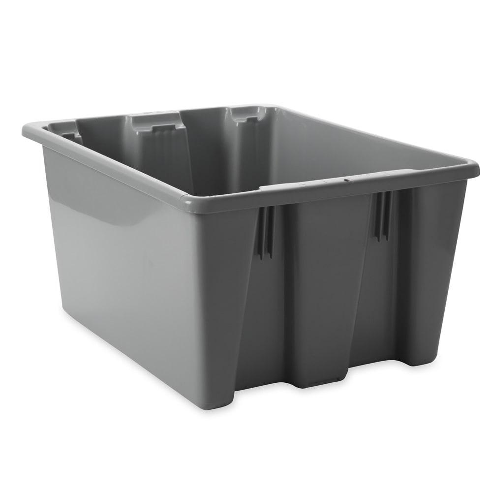 "Rubbermaid FG172100GRAY Palletote Box - 1-5/16 cu ft, 19-1/2x15-1/2x10"" Gray"
