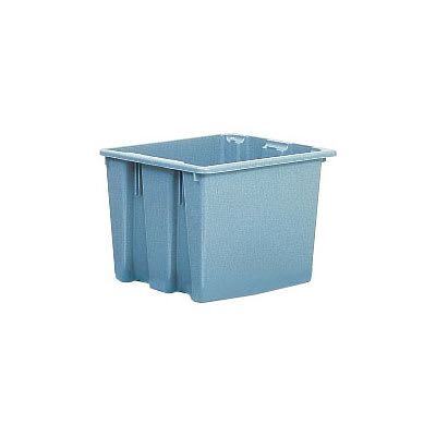 "Rubbermaid FG173200GRAY Palletote Box - 2 5/8 cu ft, 23 1/2x19 1/2x13"" Gray"