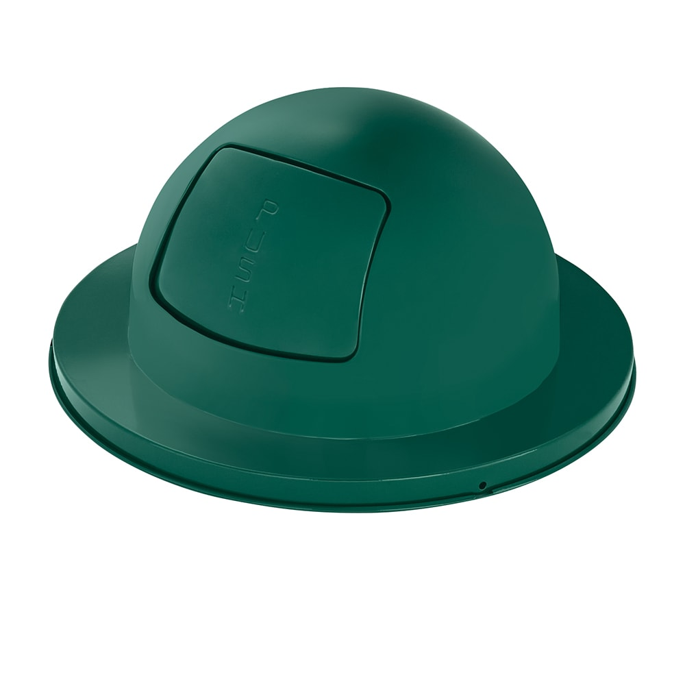 Rubbermaid FG2030EG Round Dome Trash Can Lid - Metal, Green