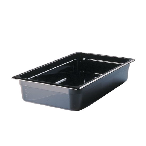 "Rubbermaid FG231P00BLA Hot Food Pan - Full-Size, 4"" Deep, Non-Stick, Black"