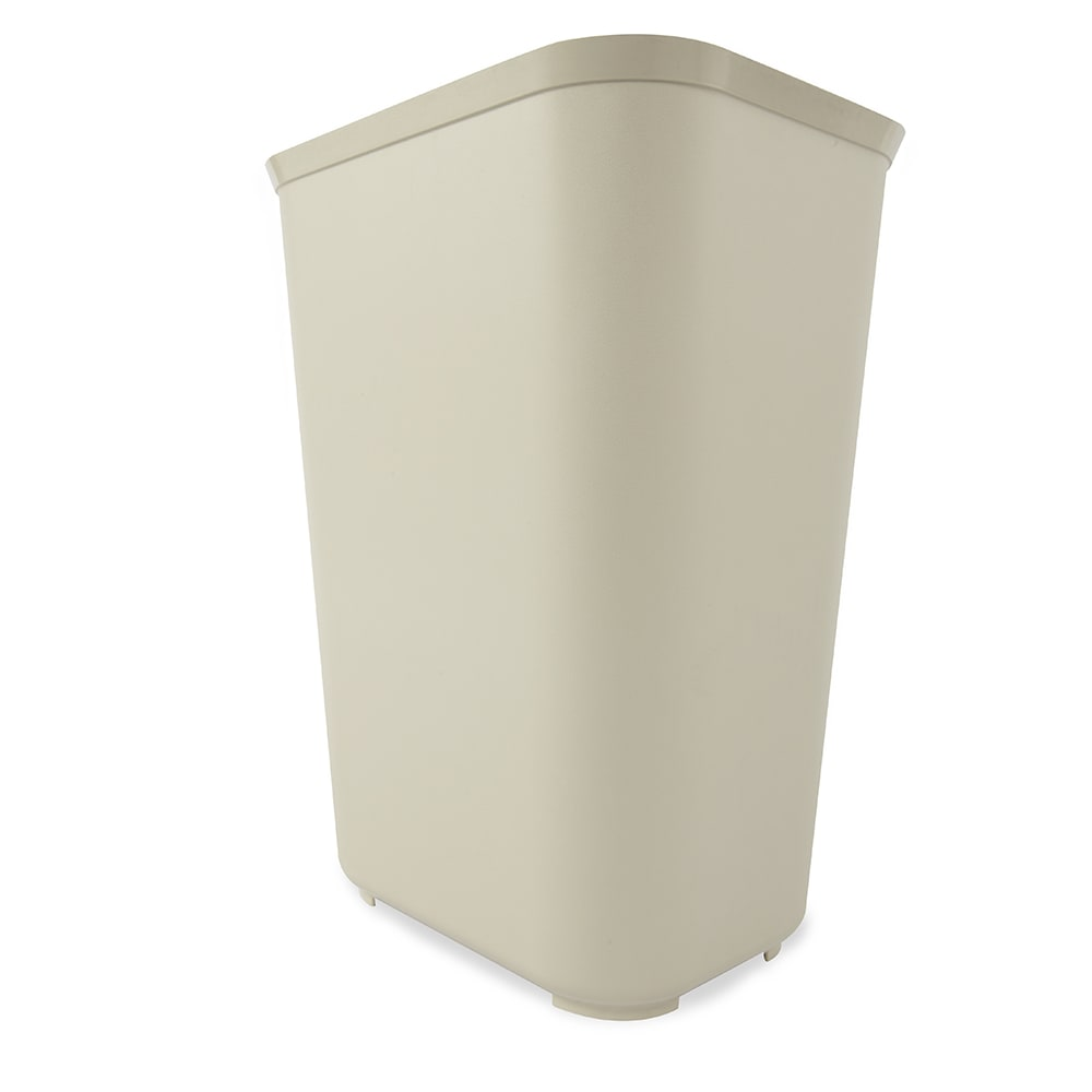 Rubbermaid FG254400BEIG 40 qt Rectangle Waste Basket - Plastic, Beige
