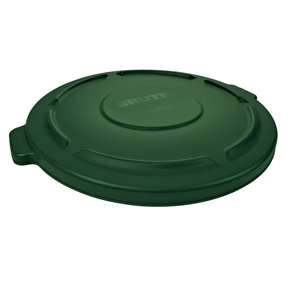 "Rubbermaid FG260900DGRN 16"" Round BRUTE Container Lid - Dark Green"