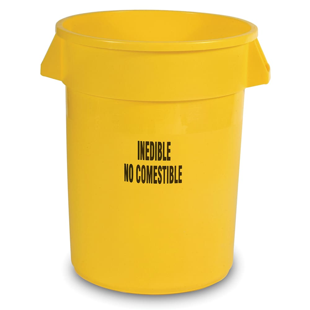 Rubbermaid FG263256YEL 32-gal Food Processing Container - Inedible Imprint, Yellow