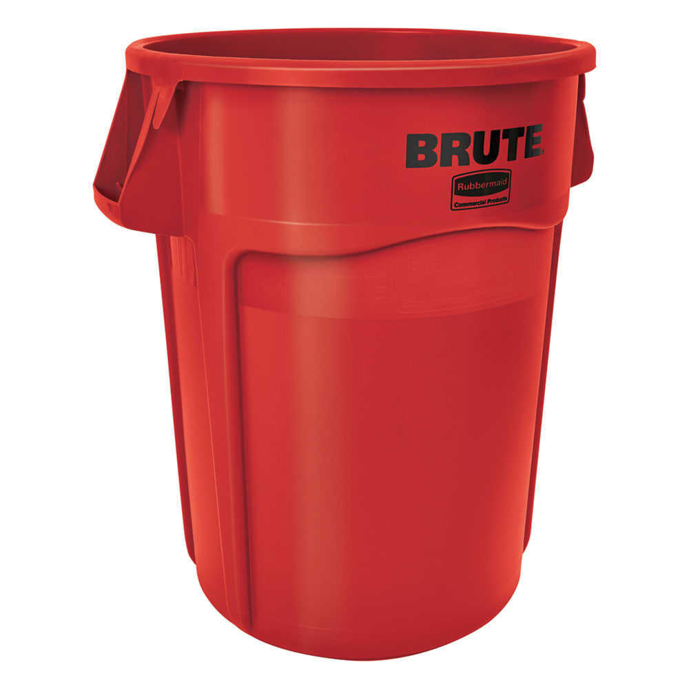 Rubbermaid FG265500RED 55-gallon Brute Trash Can - Plastic, Round, Food Rated