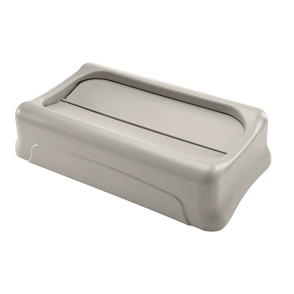 Rubbermaid FG267360BEIG Rectangle Swing Top Trash Can Lid - Plastic, Beige