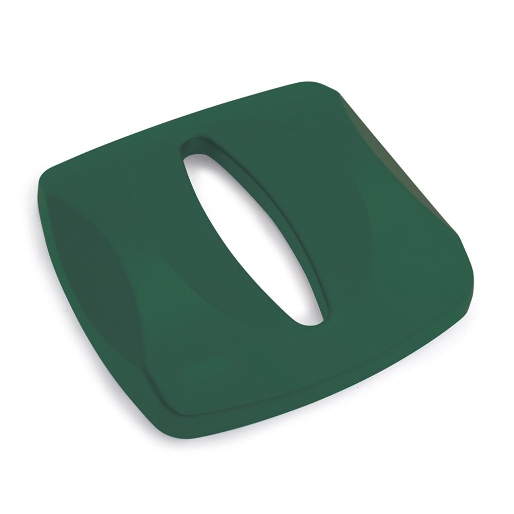 Rubbermaid FG269000GRN Square Recycling Trash Can Lid - Plastic, Green