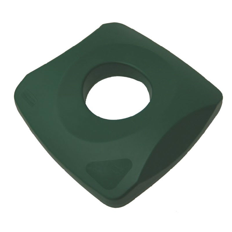 Rubbermaid FG269100GRN Square Recycling Trash Can Lid - Plastic, Green